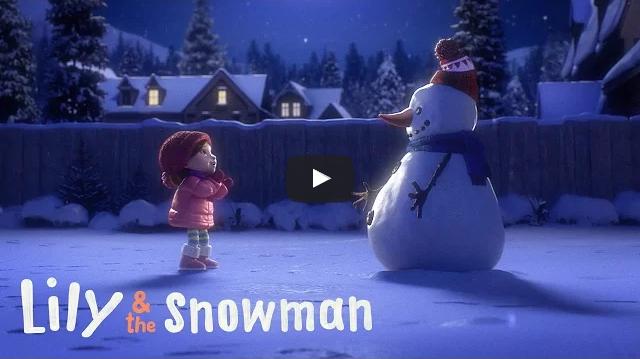lieve sneeuwman