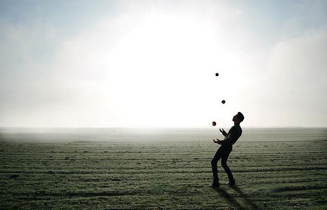 Welke ballen probeer jij allemaal om hoog te houden