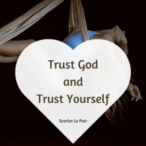 vertrouw op god en op jezelf
