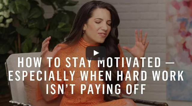 gemotiveerd blijven als het niet lukt