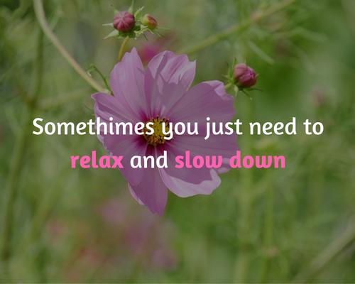 soms heb je even rust nodig
