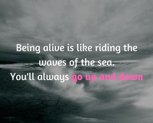 het leven kent ups en downs